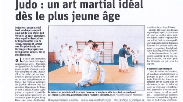 Article du Progrès du 16 septembre : Judo : un art martial idéal dès le plus jeune âge